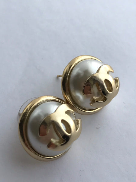 Chanel Large Pearl Earring Studs