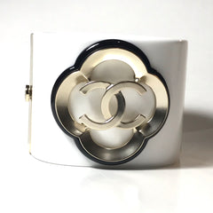 Chanel Cuff Bangle Bracelet in light gold