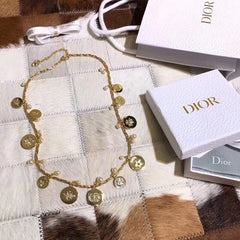 Christian Dior Clover Pearl Necklace