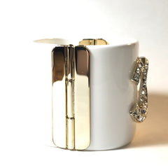 Cuff Bangle Bracelet in gold tone