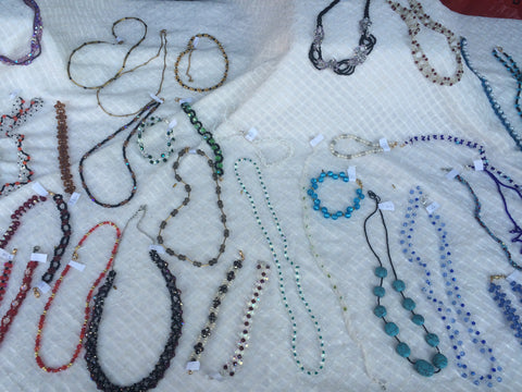 beaded jewelry made by blind women