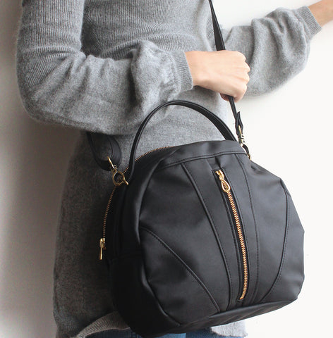 TOULOUSE BAG, black crossbody bag