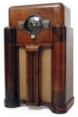 Zenith Model 7-S-363, 1939 Art deco radio.