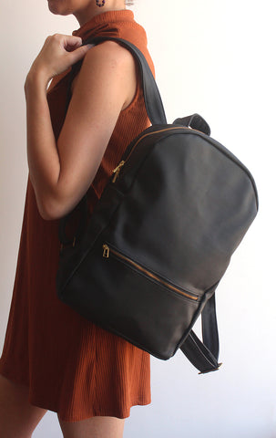 Milan backpack -black vegan bag