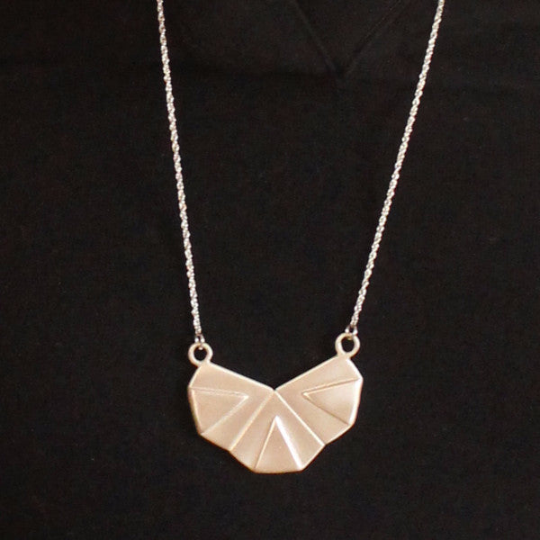 Geometric Silver necklace - Petrushka Studio - 1