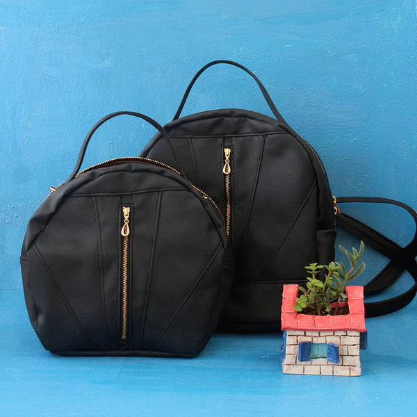 THE TOULOUSE BAG AND ROANNE BACKPACK Vegan bags by Petrushka studio