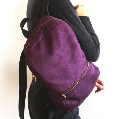 MILAN purple backpack - faux leather backpack by Petrushka Studio