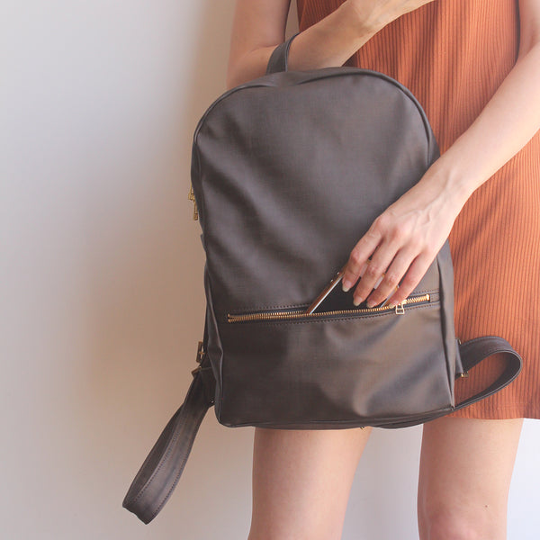 MILAN, brown backpack - Vegan leather backpack by Petrushka studio