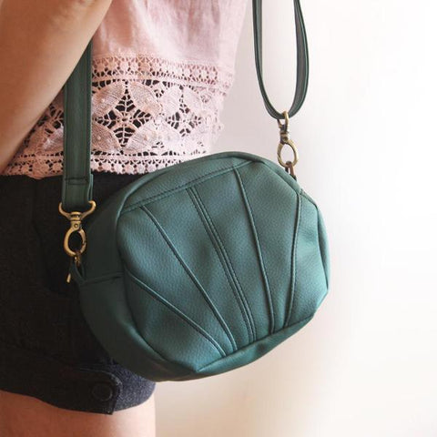 ALBI BAG, small and vegan, green crossbody bag by Petrushka studio