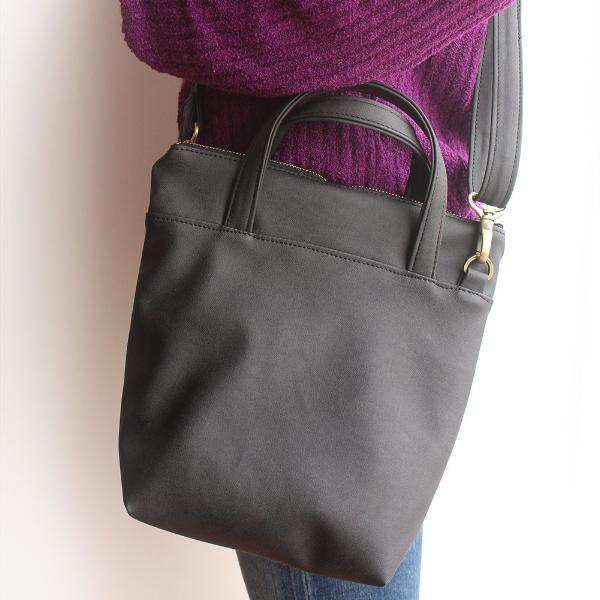 VALENCIA crossbody bag in black vegan leather. Eco friendly bag by Petrushka studio