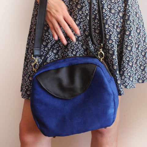 Blue Tokyo Bag, vegan leather bag by Petrushka Studio