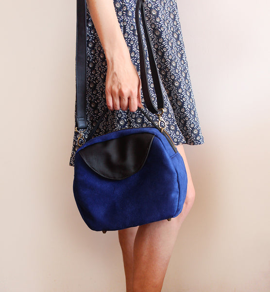 TOKYO BAG, blue crossbody bag for your everyday, vegan bag by Petrushka studio