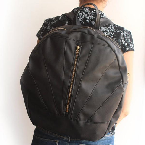 LYON BACKPACK, black backpack. Vegan and eco friendly bag by  Petrushka studio