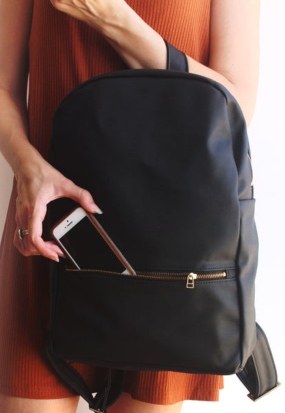MILAN, black backpack - Vegan leather backpack by Petrushka studio