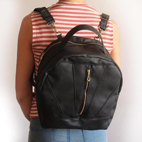 ROANNE BACKPACK, black backpack. vegan, eco friendly bag by Petrushka studio