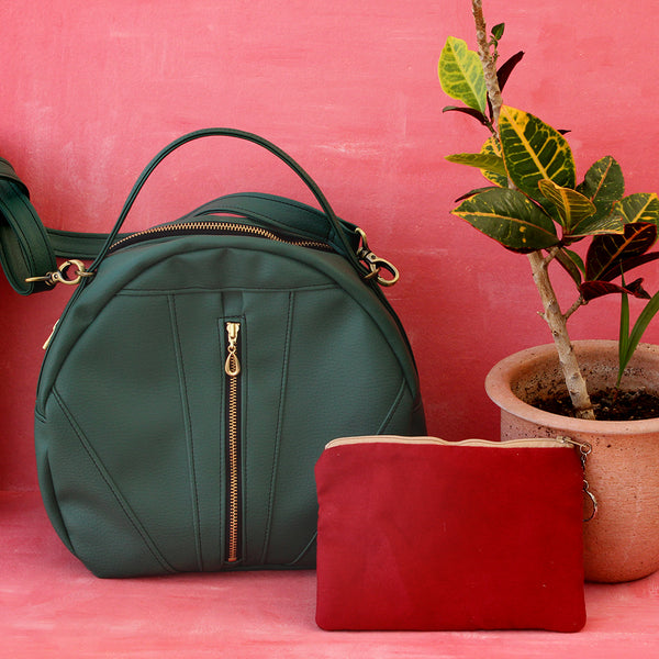 TOULOUSE BAG, green crossbody bag