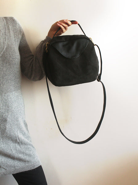 Tokyo bag, everyday black crossbody bag for modern woman by Petrushka studio