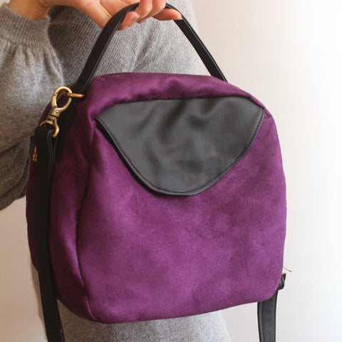TOKYO BAG, purple crossbody bag for the modern woman, vegan bag by Petrushka studio