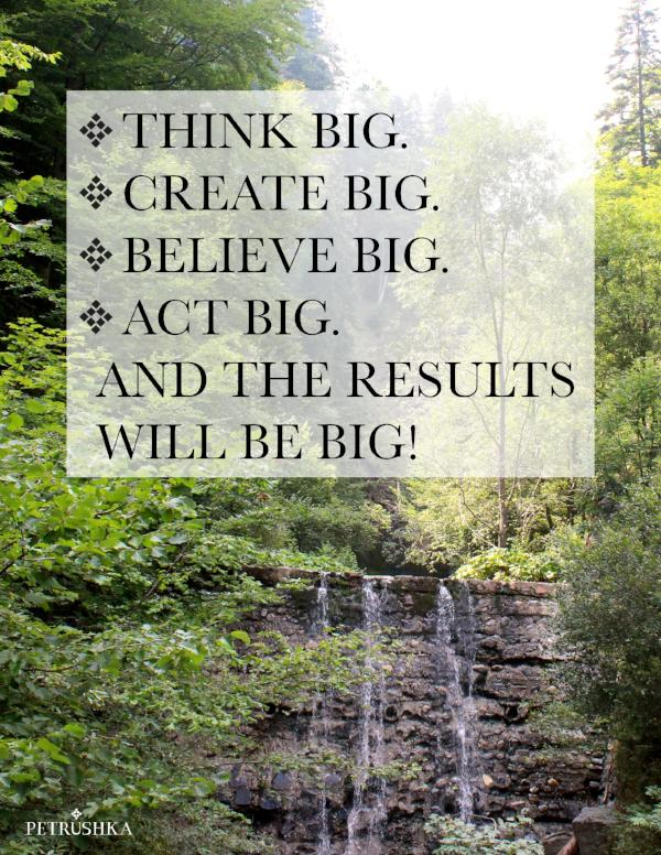 Think big and the result will be big! - digital file