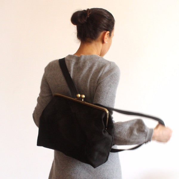 BERLIN backpack in black elegant. - Petrushka Studio - 1