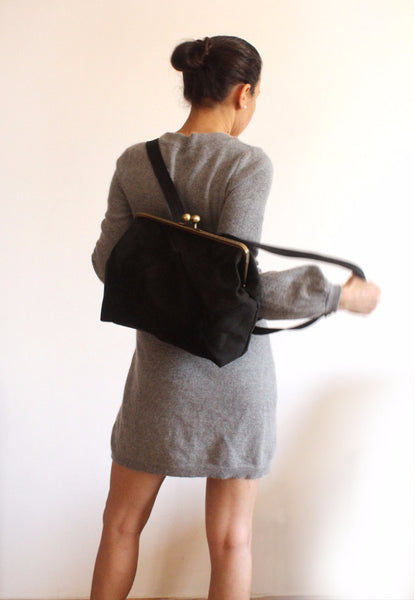 BERLIN backpack in black elegant. - Petrushka Studio - 5