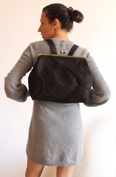 BERLIN backpack in black elegant. - Petrushka Studio - 3