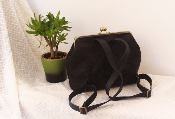 BERLIN backpack in black elegant. - Petrushka Studio - 4