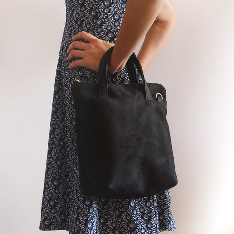 CITY BAG, Black Cross body Bag. VEGAN BAG BY PETRUSHKA STUDIO