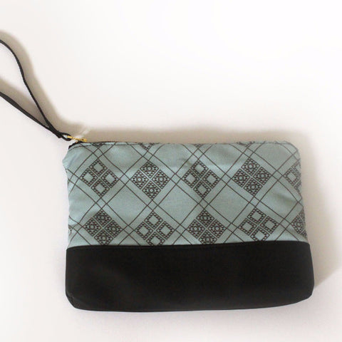 CHICAGO clutch bag, simple and classic black and blue evening bag. - Petrushka Studio - 1