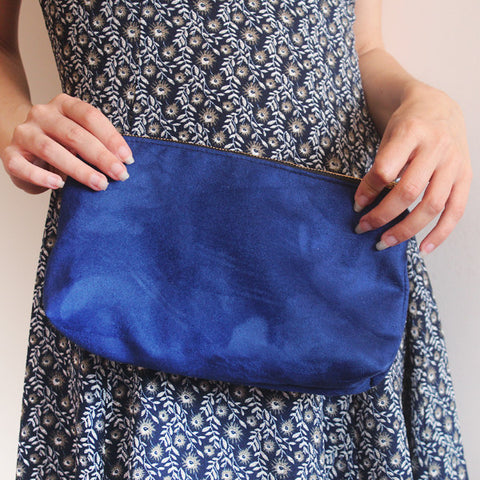 BLUE CITY CLUTCH, evening bag. Vegan clutch by Petrushka studio