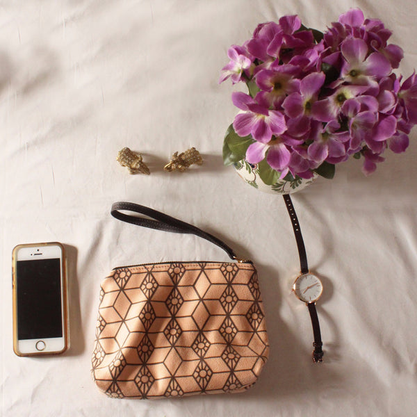 CHICAGO mini, small clutch bag with modern pattern. - Petrushka Studio - 1