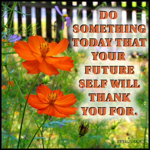 Do  something today that your  future self will thank you for. Digital file