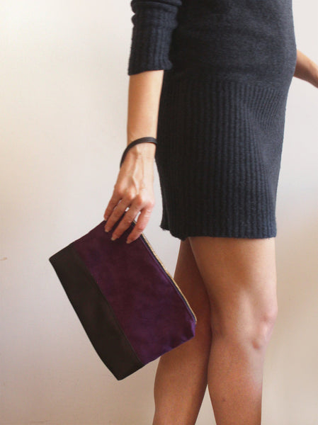 CHICAGO CLUTCH BAG, simple and classic purple evening bag. by Petrushka studio