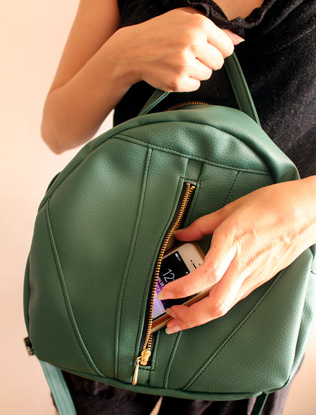 TOULOUSE BAG, green crossbody bag. Vegan bag by Petrushka studio