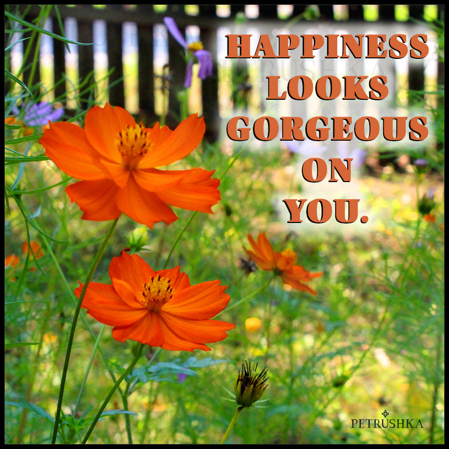Happiness Looks Gorgeous On You. - Digital file by Petrushka Studio, Vegan Fashion