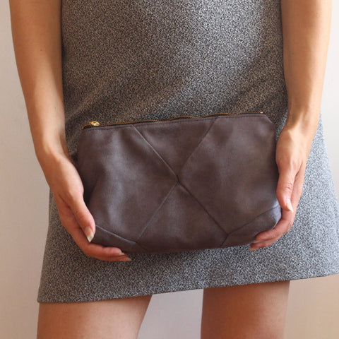 Gray City Clutch Bag, evening bag, vegan bag by Petrushka studio
