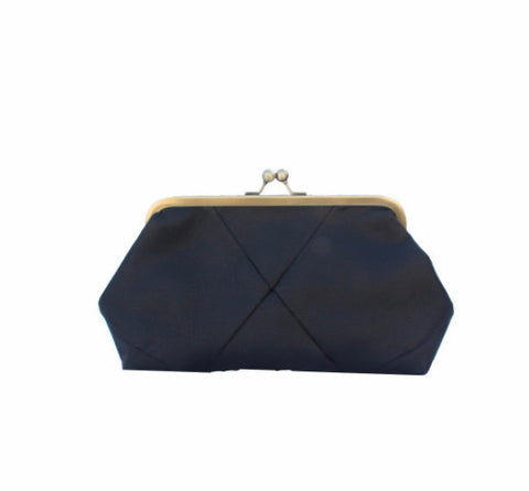 Black evening clutch purse - Petrushka Studio - 1