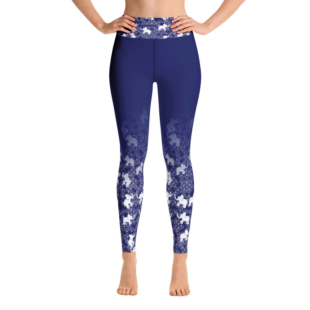 Elephants print Yoga Leggings