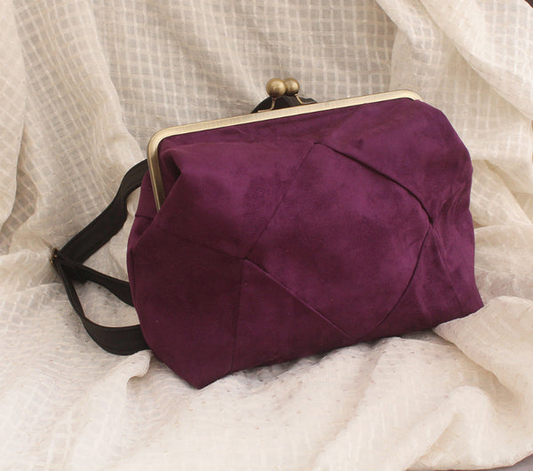 BERLIN, purple backpack, vegan backpack by Petrushka studio