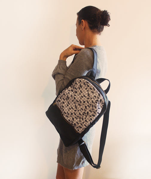 MILAN backpack, women's backpack with modern print.