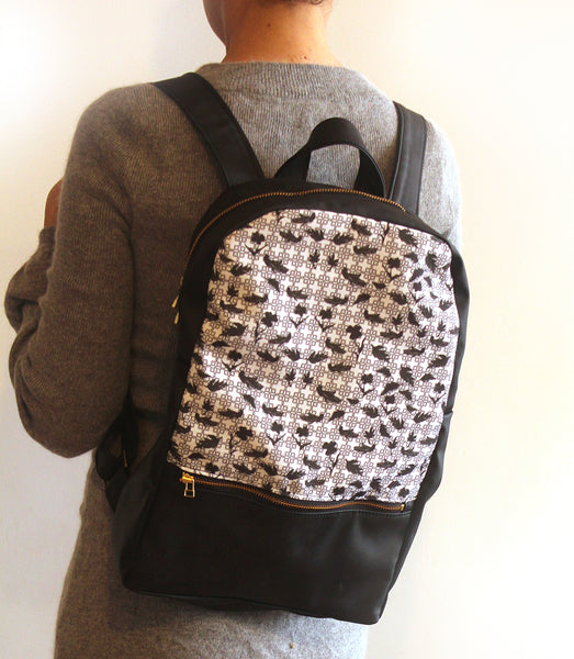 MILAN backpack, women's backpack with modern print. eco friendly bag by Petrushka studio
