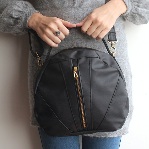 TOULOUSE BAG  - Eco friendly black crossbody bag. Vegan bag by Petrushka studio