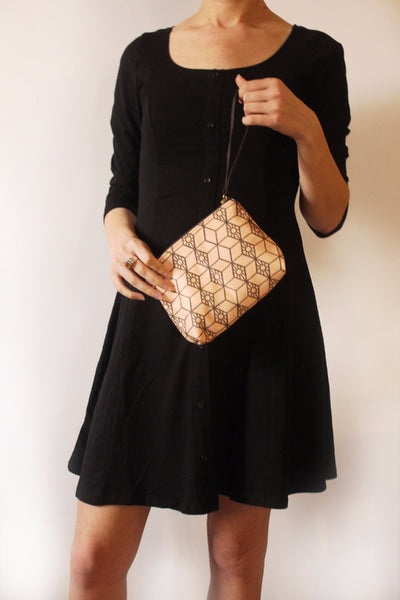CHICAGO mini, small clutch bag with modern pattern. - Petrushka Studio - 4