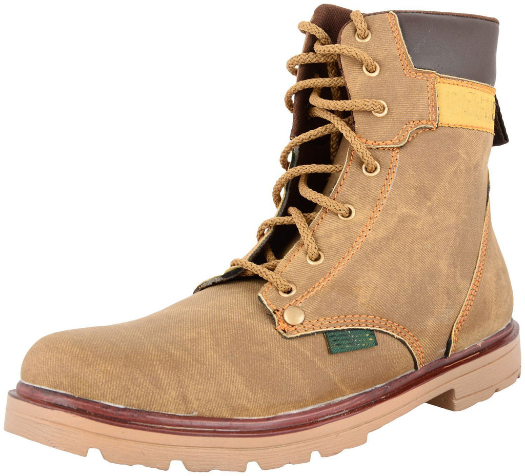Zohran Men's Brown PU Boots 403 - PU Boot - Zohranglobal.com