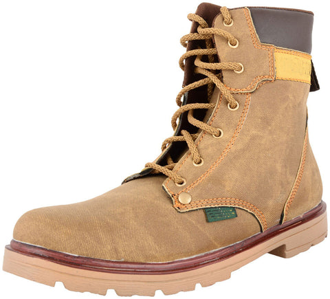 Zohran Men's Brown PU Boots 403