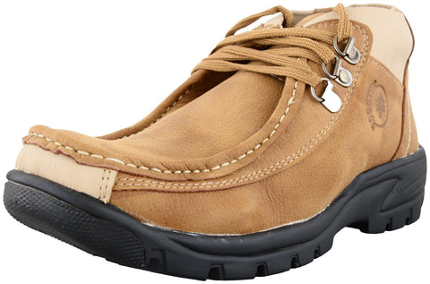 Zohran Men's Brown PU Casual Shoes 437