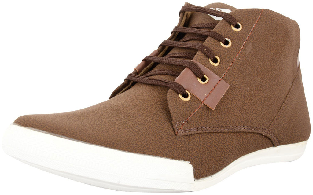 Zohran Men's Brown PU Casual Shoes 441 - PU Casual Shoes - Zohranglobal.com