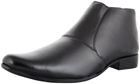 Zohran Men's Black PU Boots 485 - PU Boot - Zohranglobal.com