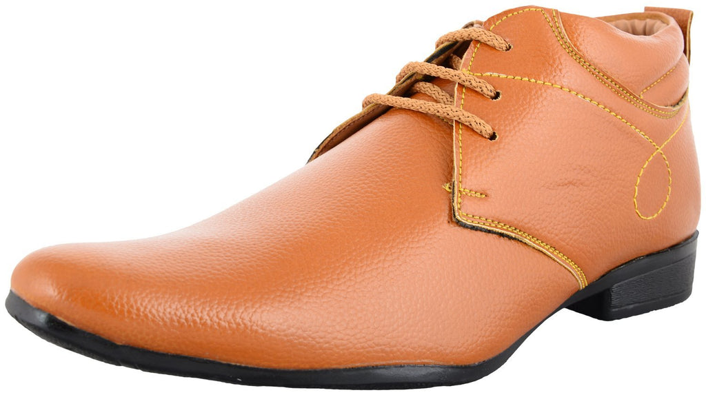 Zohran Men's Tan PU Casual Shoes 492 - PU Casual Shoes - Zohranglobal.com