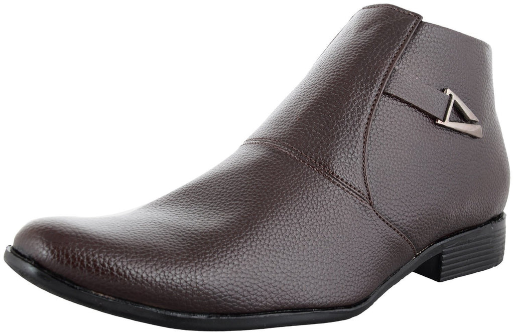 Zohran Men's Brown PU Boots 493 - PU Boot - Zohranglobal.com